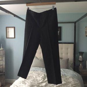 EUC J. crew Eaton Boy Crop Black Wool Pant Cuffed
